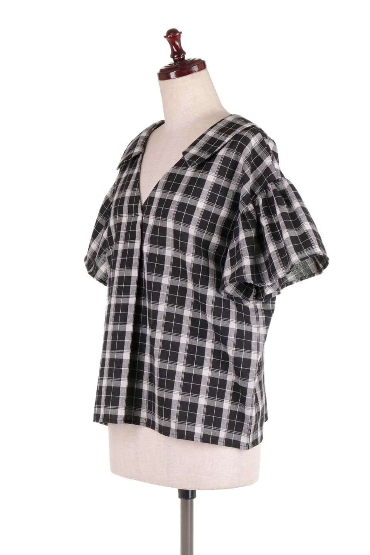 BackRibbonSkipperBlouseバックリボン・スキッパーブラウス大人カジュアルに最適な海外ファッションのothers(その他インポートアイテム)のトップスやシャツ・ブラウス。ゆったり目のシルエットで風通しの良いスキッパーブラウス。太めの袖と背中のリボンがポイントのカジュアルアイテムです。/main-6