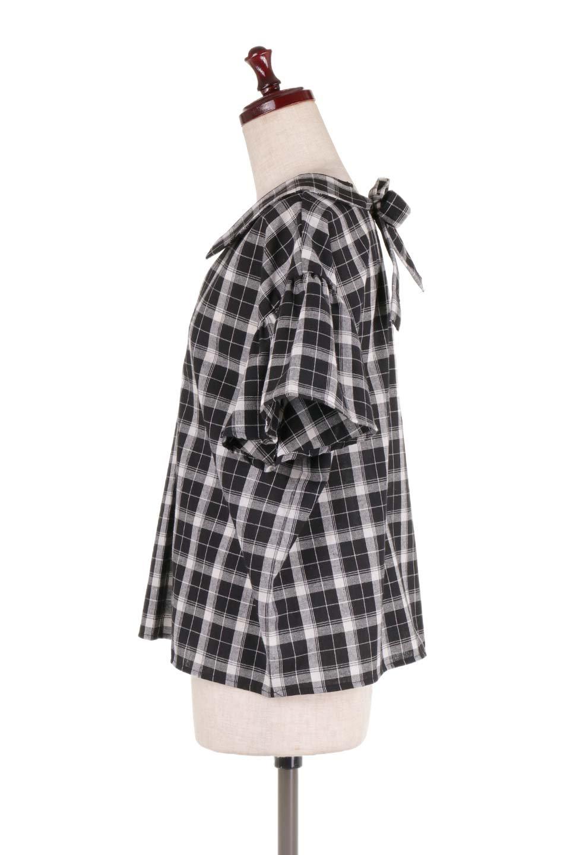 BackRibbonSkipperBlouseバックリボン・スキッパーブラウス大人カジュアルに最適な海外ファッションのothers(その他インポートアイテム)のトップスやシャツ・ブラウス。ゆったり目のシルエットで風通しの良いスキッパーブラウス。太めの袖と背中のリボンがポイントのカジュアルアイテムです。/main-7
