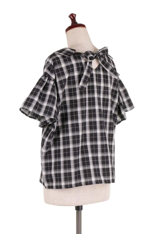 BackRibbonSkipperBlouseバックリボン・スキッパーブラウス大人カジュアルに最適な海外ファッションのothers(その他インポートアイテム)のトップスやシャツ・ブラウス。ゆったり目のシルエットで風通しの良いスキッパーブラウス。太めの袖と背中のリボンがポイントのカジュアルアイテムです。/main-8