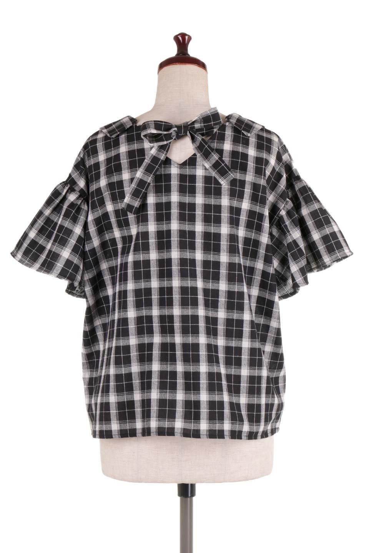 BackRibbonSkipperBlouseバックリボン・スキッパーブラウス大人カジュアルに最適な海外ファッションのothers(その他インポートアイテム)のトップスやシャツ・ブラウス。ゆったり目のシルエットで風通しの良いスキッパーブラウス。太めの袖と背中のリボンがポイントのカジュアルアイテムです。/main-9