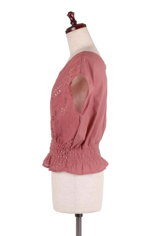 EyeletlaceBlouseアイレットレースブラウス大人カジュアルに最適な海外ファッションのothers(その他インポートアイテム)のトップスやシャツ・ブラウス。アイレットレースでデザインしたノースリーブブラウス。Vゾーンから広がるアイレットレースが可愛いアイテムです。/main-12