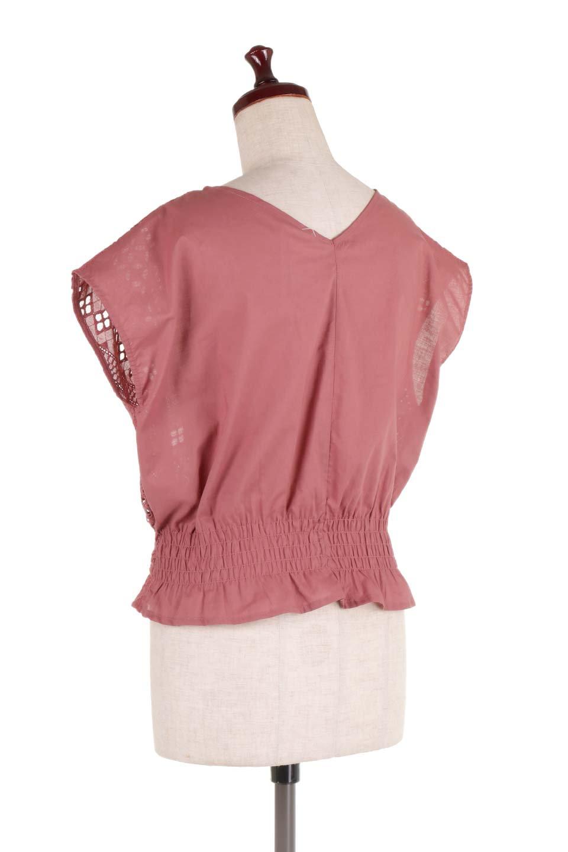 EyeletlaceBlouseアイレットレースブラウス大人カジュアルに最適な海外ファッションのothers(その他インポートアイテム)のトップスやシャツ・ブラウス。アイレットレースでデザインしたノースリーブブラウス。Vゾーンから広がるアイレットレースが可愛いアイテムです。/main-13