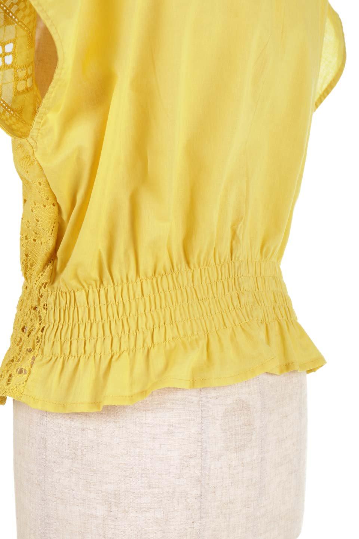EyeletlaceBlouseアイレットレースブラウス大人カジュアルに最適な海外ファッションのothers(その他インポートアイテム)のトップスやシャツ・ブラウス。アイレットレースでデザインしたノースリーブブラウス。Vゾーンから広がるアイレットレースが可愛いアイテムです。/main-28