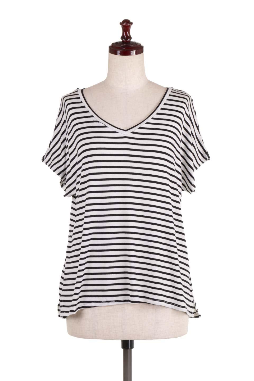 L.A.直輸入のClassicDolmanStrechStripeTeeドルマンスリーブ・VネックボーダーTシャツ大人カジュアルに最適な海外ファッションのothers(その他インポートアイテム)のトップスやTシャツ。定番シルエットでしかもストレッチの効いたリラックスボーダーTee。大人気の無地Teeのボーダーバージョンです。