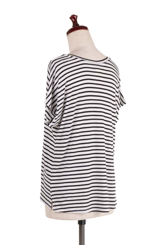 L.A.直輸入のClassicDolmanStrechStripeTeeドルマンスリーブ・VネックボーダーTシャツ大人カジュアルに最適な海外ファッションのothers(その他インポートアイテム)のトップスやTシャツ。定番シルエットでしかもストレッチの効いたリラックスボーダーTee。大人気の無地Teeのボーダーバージョンです。/main-3