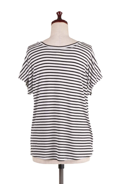 L.A.直輸入のClassicDolmanStrechStripeTeeドルマンスリーブ・VネックボーダーTシャツ大人カジュアルに最適な海外ファッションのothers(その他インポートアイテム)のトップスやTシャツ。定番シルエットでしかもストレッチの効いたリラックスボーダーTee。大人気の無地Teeのボーダーバージョンです。/main-4