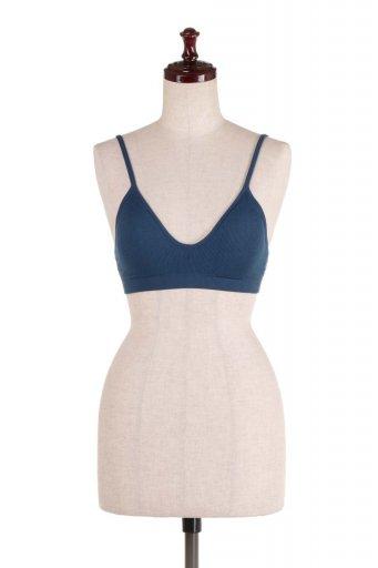 海外ファッションや大人カジュアルにオススメなインポートセレクトアイテムL.A.直輸入のRibbed seamless bralette シームレス・シンプルブラレット