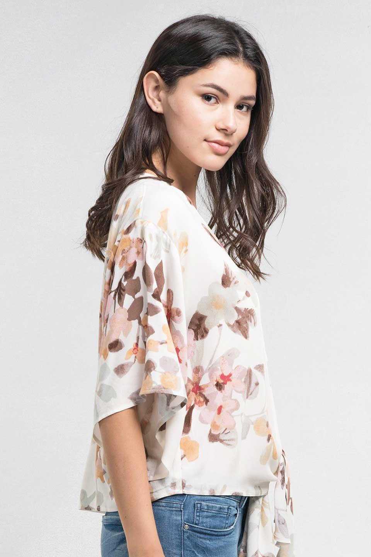 LOVESTITCHのNemaTopボタニカルプリント・ドルマンブラウス/海外ファッションが好きな大人カジュアルのためのLOVESTITCH(ラブステッチ)のトップスやシャツ・ブラウス。優しい配色のボタニカルプリントが涼しげなドルマンスリーブの半袖ブラウス。とにかく重宝するラブステッチのブラウス。/main-11