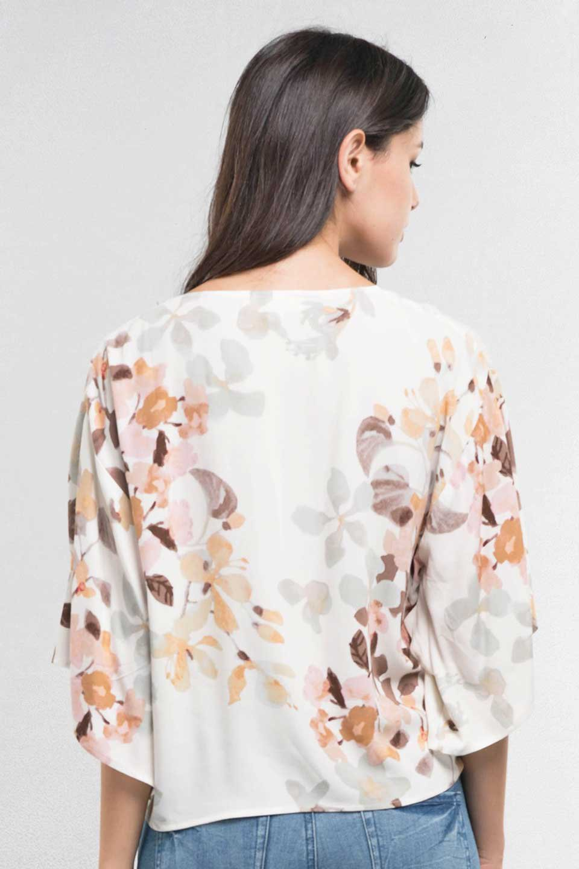 LOVESTITCHのNemaTopボタニカルプリント・ドルマンブラウス/海外ファッションが好きな大人カジュアルのためのLOVESTITCH(ラブステッチ)のトップスやシャツ・ブラウス。優しい配色のボタニカルプリントが涼しげなドルマンスリーブの半袖ブラウス。とにかく重宝するラブステッチのブラウス。/main-12