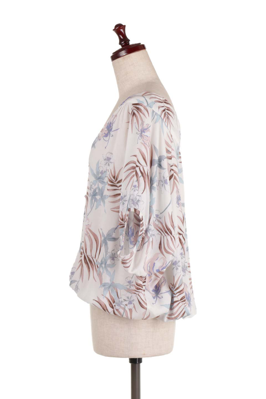 LOVESTITCHのNemaTopボタニカルプリント・ドルマンブラウス/海外ファッションが好きな大人カジュアルのためのLOVESTITCH(ラブステッチ)のトップスやシャツ・ブラウス。優しい配色のボタニカルプリントが涼しげなドルマンスリーブの半袖ブラウス。とにかく重宝するラブステッチのブラウス。/main-2