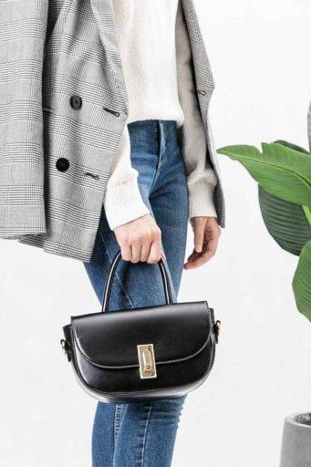 海外ファッションや大人カジュアルのためのインポートバッグ、かばんmelie bianco(メリービアンコ)のAlba (Black)