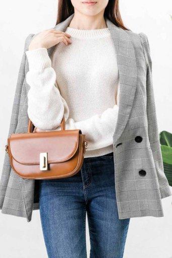 海外ファッションや大人カジュアルのためのインポートバッグ、かばんmelie bianco(メリービアンコ)のAlba (Saddle)