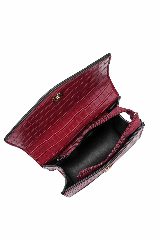 meliebiancoのLena(Burgundy)/海外ファッション好きにオススメのインポートバッグとかばん、MelieBianco(メリービアンコ)のバッグやハンドバッグ。meliebianco(メリービアンコ)の2018年秋冬の新作になります。メリービアンコ自慢のビーガンレザーを使用したアニマルフレンドリーなアイテム。/main-3