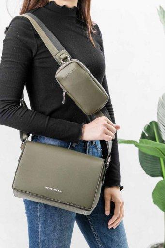 海外ファッションや大人カジュアルのためのインポートバッグ、かばんmelie bianco(メリービアンコ)のRay (Olive)