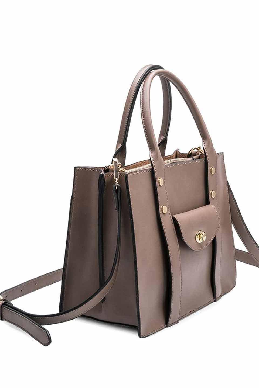 meliebiancoのKhole(Taupe)/海外ファッション好きにオススメのインポートバッグとかばん、MelieBianco(メリービアンコ)のバッグやハンドバッグ。meliebianco(メリービアンコ)の2018年秋冬の新作になります。メリービアンコ自慢のビーガンレザーを使用したアニマルフレンドリーなアイテム。/main-2