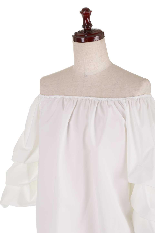 JosephRibkoffのTop#1834233段バルーンスリーブ・ブラウス/JosephRibkoffのトップスやシャツ・ブラウス。袖にボリュームをもたせて、ふんわりとしたイメージを醸し出すブラウス。オフショルダーと大きすぎないルーズサイズのデザインです。/main-6