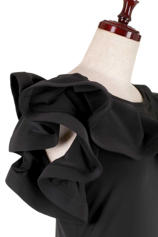 JosephRibkoffのTop#153168ハイストレッチ・ラッフルトップ/JosephRibkoffのトップスやシャツ・ブラウス。バラの花びらのようなフリルが印象的なトップス。大きなフリルの縁にはワイヤーが入っているので、萎んでしまうことはありません。/main-5