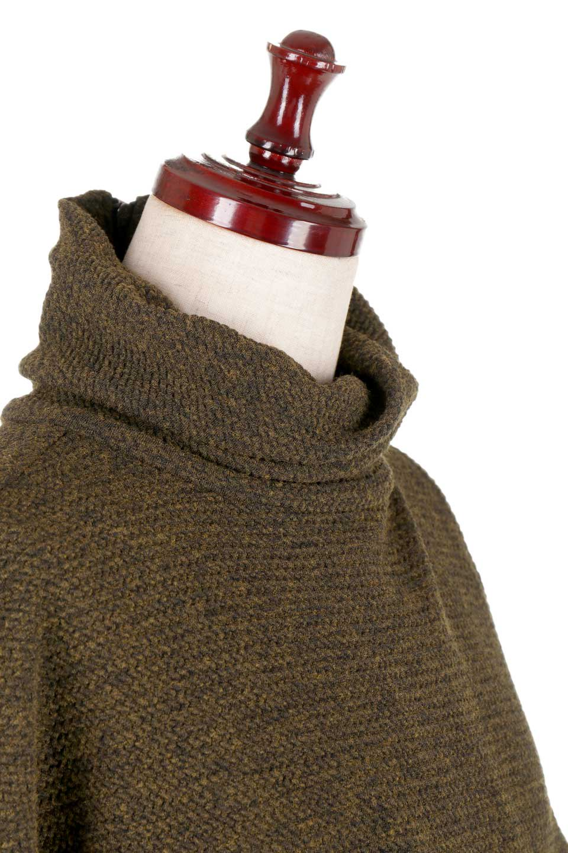 JosephRibkoffのTunic#183322ツイストネック・フィッシュテールチュニック/JosephRibkoffのトップスやニット・セーター。シンプルですがデザイン性の高いニットのコクーンプルオーバー。ネジリを加えたタートルネックが可愛いポイント細身の袖がゆったりシルエットをスッキリ見せてくれます。/main-5