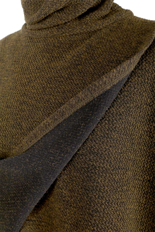 JosephRibkoffのTunic#183322ツイストネック・フィッシュテールチュニック/JosephRibkoffのトップスやニット・セーター。シンプルですがデザイン性の高いニットのコクーンプルオーバー。ネジリを加えたタートルネックが可愛いポイント細身の袖がゆったりシルエットをスッキリ見せてくれます。/main-9