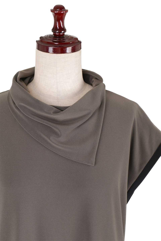 JosephRibkoffのTunic#183176変形カウルネック・ライン入りチュニック/JosephRibkoffのトップスやシャツ・ブラウス。フレンチスリーブからサイドにかけてのラインがスポーティーな雰囲気のチュニック。海外ではすでに定番化しているアスレジャーをジョセフリブコフ独特な上品さで仕上げたようなアイテムです。/main-5
