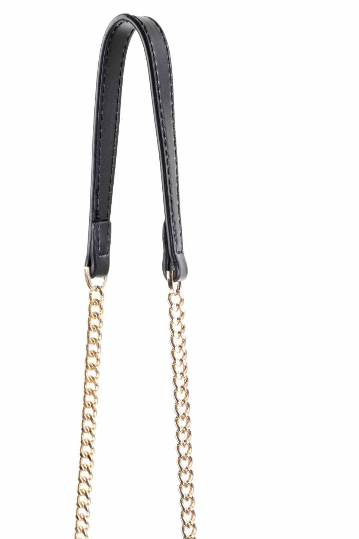 meliebiancoのAdele(Black)/海外ファッション好きにオススメのインポートバッグとかばん、MelieBianco(メリービアンコ)のバッグやショルダーバッグ。小ぶりで可愛らしいミニショルダーバッグ。半艶加工のセミグロス・ビーガンレザーを使用し、なめらかな質感が高級感を醸し出します。/main-13