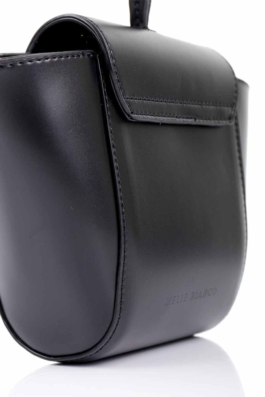 meliebiancoのAdele(Black)/海外ファッション好きにオススメのインポートバッグとかばん、MelieBianco(メリービアンコ)のバッグやショルダーバッグ。小ぶりで可愛らしいミニショルダーバッグ。半艶加工のセミグロス・ビーガンレザーを使用し、なめらかな質感が高級感を醸し出します。/main-10