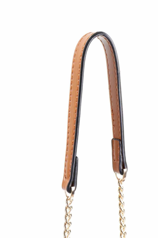 meliebiancoのAdele(Saddle)/海外ファッション好きにオススメのインポートバッグとかばん、MelieBianco(メリービアンコ)のバッグやショルダーバッグ。小ぶりで可愛らしいミニショルダーバッグ。半艶加工のセミグロス・ビーガンレザーを使用し、なめらかな質感が高級感を醸し出します。/main-11