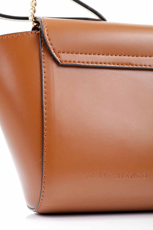 meliebiancoのAdele(Saddle)/海外ファッション好きにオススメのインポートバッグとかばん、MelieBianco(メリービアンコ)のバッグやショルダーバッグ。小ぶりで可愛らしいミニショルダーバッグ。半艶加工のセミグロス・ビーガンレザーを使用し、なめらかな質感が高級感を醸し出します。/main-16