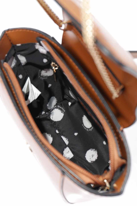 meliebiancoのAdele(Saddle)/海外ファッション好きにオススメのインポートバッグとかばん、MelieBianco(メリービアンコ)のバッグやショルダーバッグ。小ぶりで可愛らしいミニショルダーバッグ。半艶加工のセミグロス・ビーガンレザーを使用し、なめらかな質感が高級感を醸し出します。/main-20