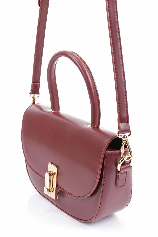 meliebiancoのAlba(Burgundy)/海外ファッション好きにオススメのインポートバッグとかばん、MelieBianco(メリービアンコ)のバッグやショルダーバッグ。高級感のあるセミグロスのビーガンレザーを使用した2Wayハンドバッグ。しっとりとしたツヤ感がとても素敵なバッグです。/main-15
