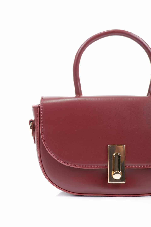 meliebiancoのAlba(Burgundy)/海外ファッション好きにオススメのインポートバッグとかばん、MelieBianco(メリービアンコ)のバッグやショルダーバッグ。高級感のあるセミグロスのビーガンレザーを使用した2Wayハンドバッグ。しっとりとしたツヤ感がとても素敵なバッグです。/main-17