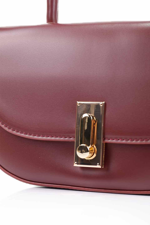 meliebiancoのAlba(Burgundy)/海外ファッション好きにオススメのインポートバッグとかばん、MelieBianco(メリービアンコ)のバッグやショルダーバッグ。高級感のあるセミグロスのビーガンレザーを使用した2Wayハンドバッグ。しっとりとしたツヤ感がとても素敵なバッグです。/main-18