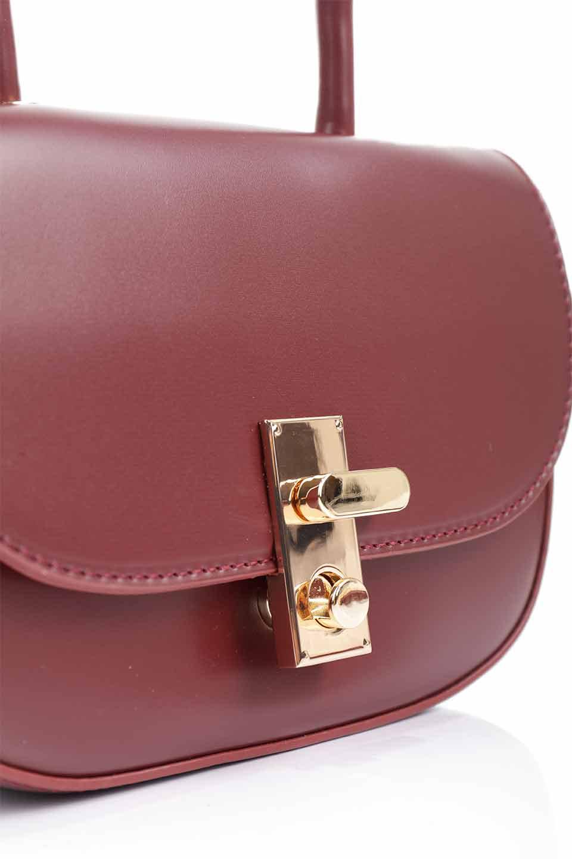 meliebiancoのAlba(Burgundy)/海外ファッション好きにオススメのインポートバッグとかばん、MelieBianco(メリービアンコ)のバッグやショルダーバッグ。高級感のあるセミグロスのビーガンレザーを使用した2Wayハンドバッグ。しっとりとしたツヤ感がとても素敵なバッグです。/main-19