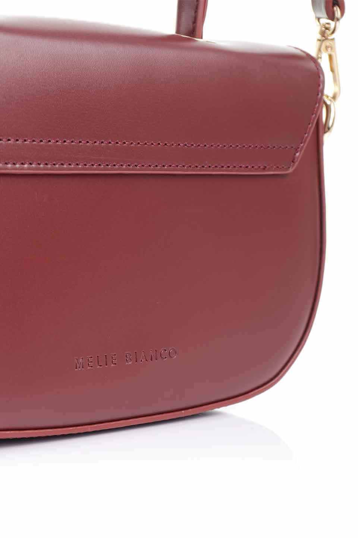 meliebiancoのAlba(Burgundy)/海外ファッション好きにオススメのインポートバッグとかばん、MelieBianco(メリービアンコ)のバッグやショルダーバッグ。高級感のあるセミグロスのビーガンレザーを使用した2Wayハンドバッグ。しっとりとしたツヤ感がとても素敵なバッグです。/main-21