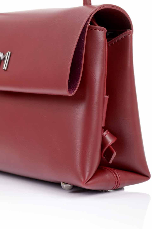 meliebiancoのRiley(Burgundy)/海外ファッション好きにオススメのインポートバッグとかばん、MelieBianco(メリービアンコ)のバッグやハンドバッグ。コンパクトでありながら2つの荷室で使いやすいショルダーバッグ。2重になったフラップのボリュームと、ふっくらしたサイドのデザインが優しい印象のバッグです。/main-11