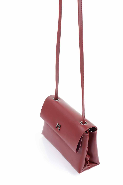 meliebiancoのRiley(Burgundy)/海外ファッション好きにオススメのインポートバッグとかばん、MelieBianco(メリービアンコ)のバッグやハンドバッグ。コンパクトでありながら2つの荷室で使いやすいショルダーバッグ。2重になったフラップのボリュームと、ふっくらしたサイドのデザインが優しい印象のバッグです。/main-5