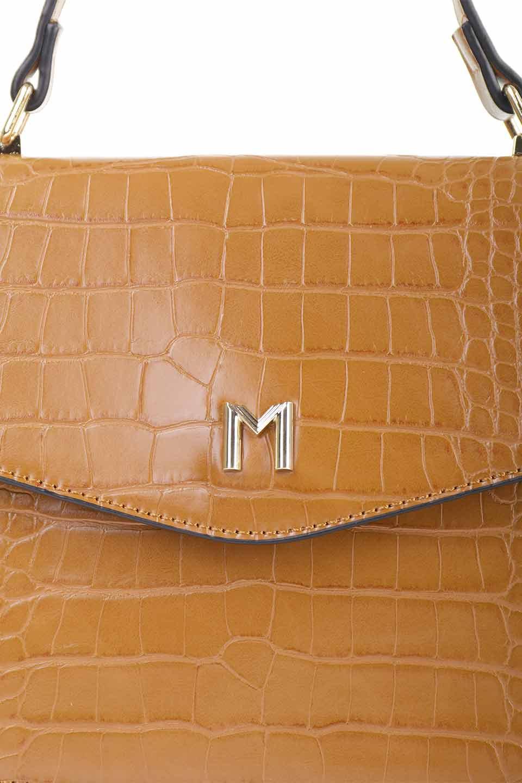 meliebiancoのLena(Saddle)/海外ファッション好きにオススメのインポートバッグとかばん、MelieBianco(メリービアンコ)のバッグやハンドバッグ。クロコダイルの型押しで高級感があるミニハンドバッグ。なめらかな艶感と硬めの質感でまるで本物の様なビーガンレザーを使用しています。/main-12