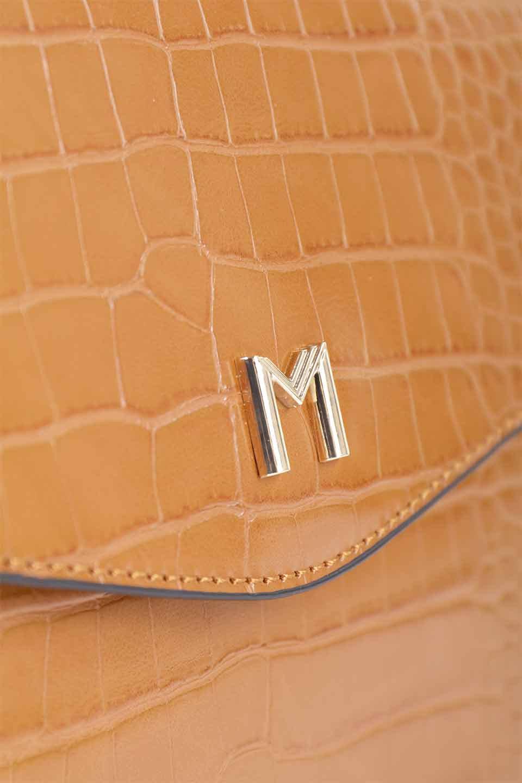meliebiancoのLena(Saddle)/海外ファッション好きにオススメのインポートバッグとかばん、MelieBianco(メリービアンコ)のバッグやハンドバッグ。クロコダイルの型押しで高級感があるミニハンドバッグ。なめらかな艶感と硬めの質感でまるで本物の様なビーガンレザーを使用しています。/main-14