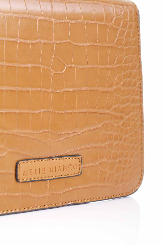 meliebiancoのLena(Saddle)/海外ファッション好きにオススメのインポートバッグとかばん、MelieBianco(メリービアンコ)のバッグやハンドバッグ。クロコダイルの型押しで高級感があるミニハンドバッグ。なめらかな艶感と硬めの質感でまるで本物の様なビーガンレザーを使用しています。/main-15