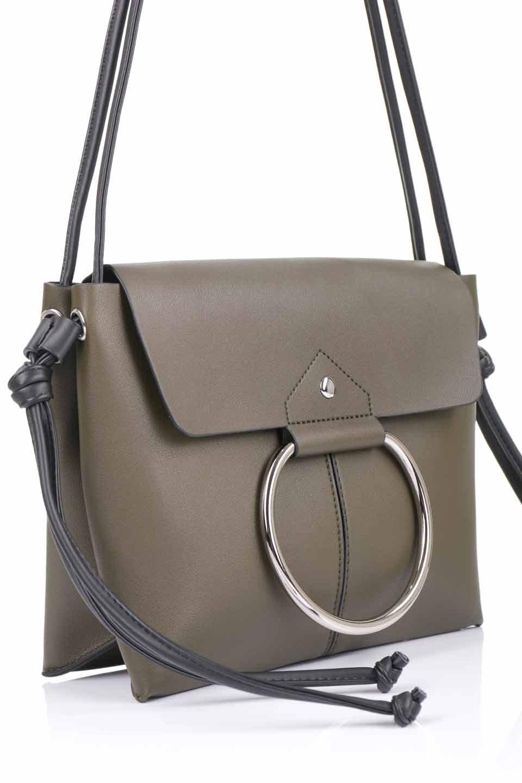 meliebiancoのDillen(Olive)/海外ファッション好きにオススメのインポートバッグとかばん、MelieBianco(メリービアンコ)のバッグやショルダーバッグ。落ち着いた雰囲気のカジュアルコーデにぴったりなショルダーバッグ。ゴールドのリングが大人っぽいアクセントのお手頃サイズのバッグです。/main-9