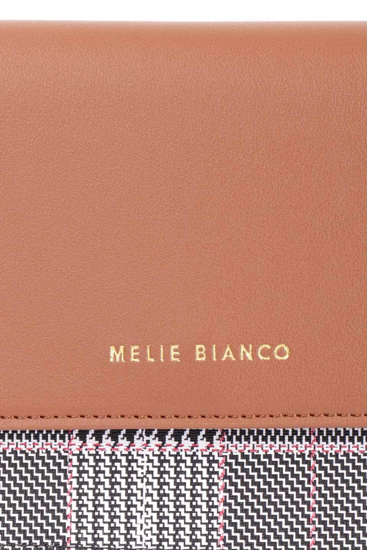meliebiancoのDesi(Saddle)/海外ファッション好きにオススメのインポートバッグとかばん、MelieBianco(メリービアンコ)のバッグやショルダーバッグ。人気のチェック柄をあしらったコンパクトサイズのショルダーバッグ。レザー部分とチェックのカラーを合わせているのも心憎いポイント。/main-13