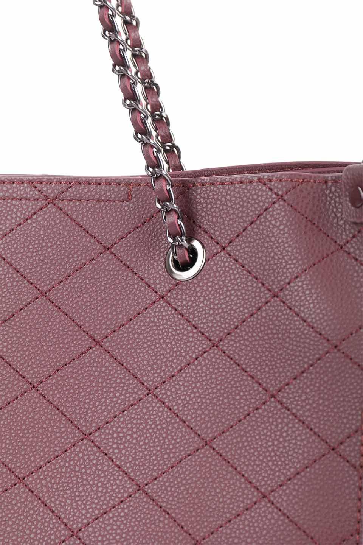 meliebiancoのNova(Burgundy)/海外ファッション好きにオススメのインポートバッグとかばん、MelieBianco(メリービアンコ)のバッグやトートバッグ。メリービアンコのプレミアムビーガンレザーにキルティングのようなステッチを施したボディが可愛いトートバッグ。シンプルなボディにゴールドチェーンの持ち手がアクセントになった大人っぽいバッグです。/main-15