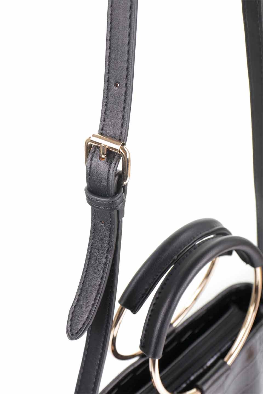 meliebiancoのStella(Black)/海外ファッション好きにオススメのインポートバッグとかばん、MelieBianco(メリービアンコ)のバッグやショルダーバッグ。以前大人気だったバケツ型バッグのステラをクロコダイルの型押しでアップデート。程よい大きさや使い勝手の良さはそのままに上品なカジュアル感がアップしました。/main-12