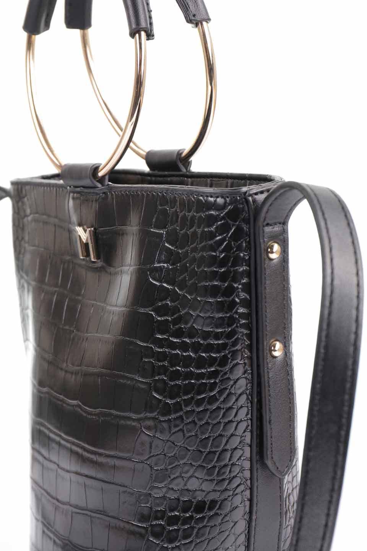meliebiancoのStella(Black)/海外ファッション好きにオススメのインポートバッグとかばん、MelieBianco(メリービアンコ)のバッグやショルダーバッグ。以前大人気だったバケツ型バッグのステラをクロコダイルの型押しでアップデート。程よい大きさや使い勝手の良さはそのままに上品なカジュアル感がアップしました。/main-16