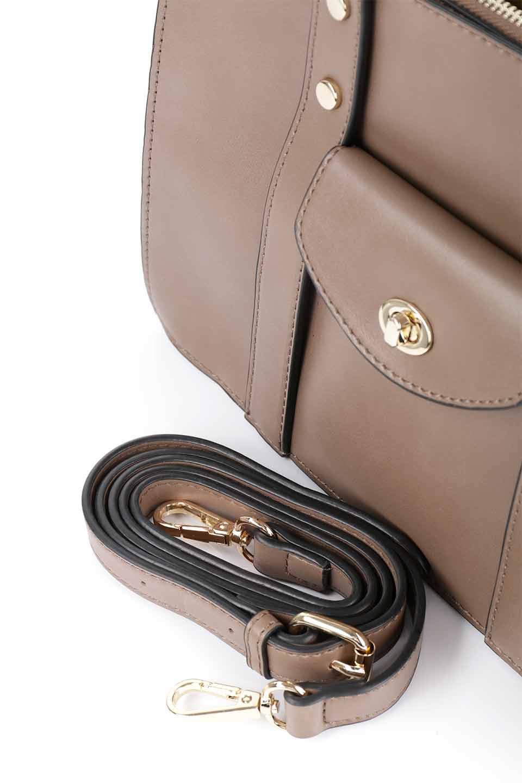 meliebiancoのKhloe(Taupe)/海外ファッション好きにオススメのインポートバッグとかばん、MelieBianco(メリービアンコ)のバッグやハンドバッグ。クラシカルなスタイルの2Wayハンドバッグ。広い荷室を分ける仕切りがファスナー付きのポケットで使いやすい工夫が施されたバッグです。/main-12