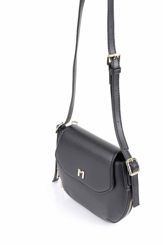 meliebiancoのLyla(Black)/海外ファッション好きにオススメのインポートバッグとかばん、MelieBianco(メリービアンコ)のバッグやショルダーバッグ。ふっくらと丸いシルエットが可愛いショルダーバッグ。ストラップは両サイドの付け根でも長さが調節できるので、お好みの長さに調節できます。/main-7