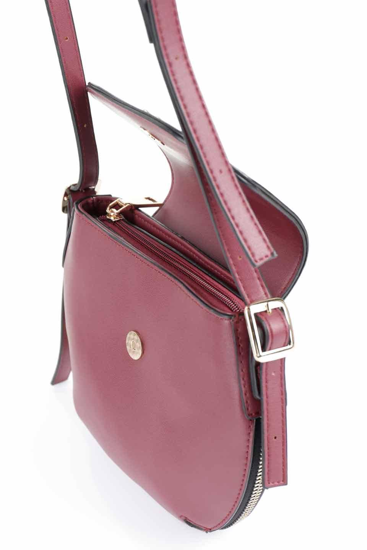 meliebiancoのLyla(Burgundy)/海外ファッション好きにオススメのインポートバッグとかばん、MelieBianco(メリービアンコ)のバッグやショルダーバッグ。ふっくらと丸いシルエットが可愛いショルダーバッグ。ストラップは両サイドの付け根でも長さが調節できるので、お好みの長さに調節できます。/main-13