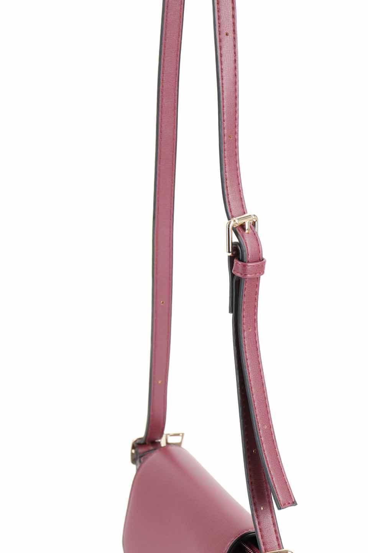 meliebiancoのLyla(Burgundy)/海外ファッション好きにオススメのインポートバッグとかばん、MelieBianco(メリービアンコ)のバッグやショルダーバッグ。ふっくらと丸いシルエットが可愛いショルダーバッグ。ストラップは両サイドの付け根でも長さが調節できるので、お好みの長さに調節できます。/main-6