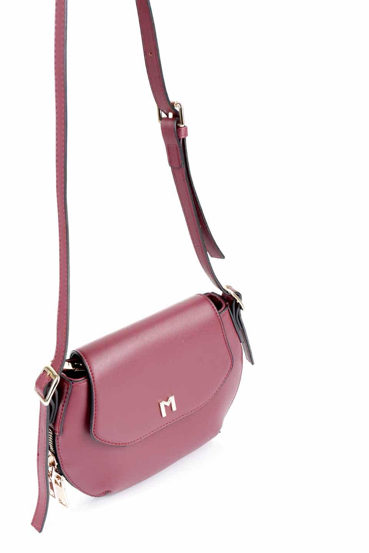 meliebiancoのLyla(Burgundy)/海外ファッション好きにオススメのインポートバッグとかばん、MelieBianco(メリービアンコ)のバッグやショルダーバッグ。ふっくらと丸いシルエットが可愛いショルダーバッグ。ストラップは両サイドの付け根でも長さが調節できるので、お好みの長さに調節できます。/main-7