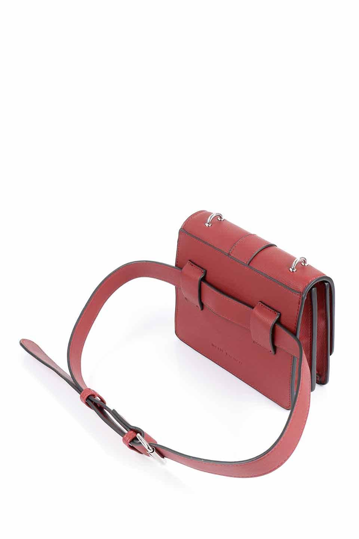 meliebiancoのStalkingGia(Wine)/海外ファッション好きにオススメのインポートバッグとかばん、MelieBianco(メリービアンコ)のバッグやショルダーバッグ。メタルのバックルがアクセントの2Wayショルダーバッグ。付属のストラップを背面に取り付ければウエストバッグとして楽しめます。/main-16